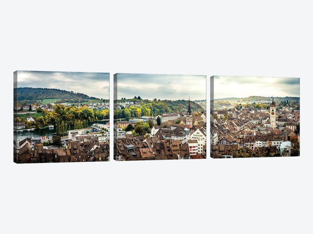 Panorama Of Switzerland by Nik Rave 3-piece Canvas Art Print