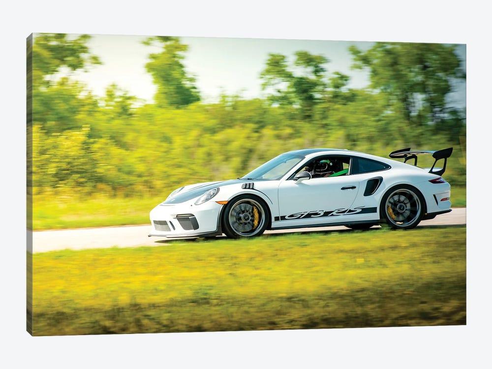 White Porsche Gt3 Rs In Motion by Nik Rave 1-piece Canvas Art Print
