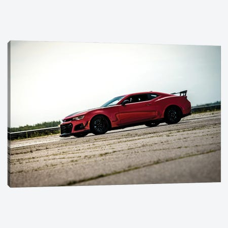 Red Chevrolet Camaro Canvas Print #NRV158} by Nik Rave Canvas Wall Art