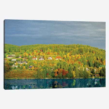 Germany View On An Embankment Canvas Print #NRV165} by Nik Rave Canvas Art