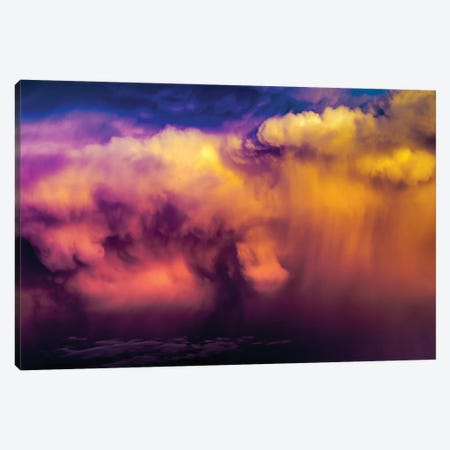 Panoramic Dramatic Purple Clouds II Canvas Print #NRV172} by Nik Rave Canvas Artwork