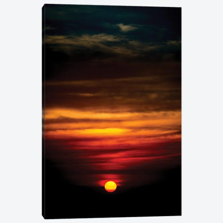 Sunset In A Deep Blue Sky Canvas Print #NRV185} by Nik Rave Canvas Wall Art