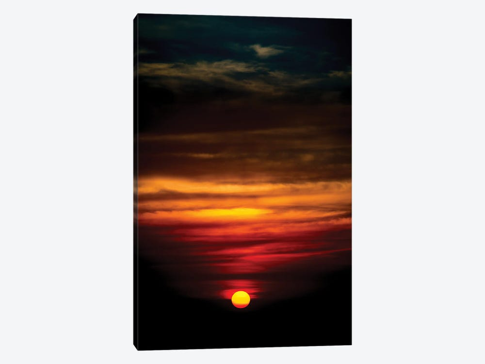 Sunset In A Deep Blue Sky by Nik Rave 1-piece Canvas Art