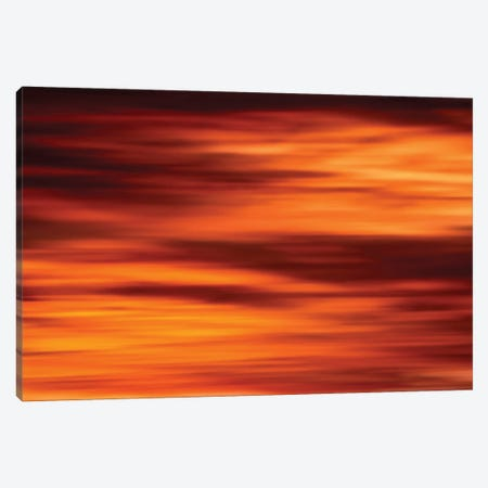 Red Sky Light Burst Canvas Print #NRV186} by Nik Rave Canvas Wall Art