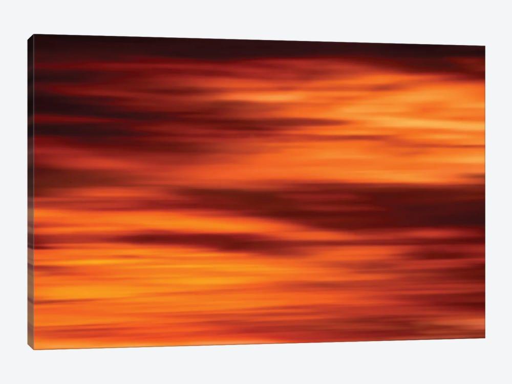 Red Sky Light Burst by Nik Rave 1-piece Canvas Print