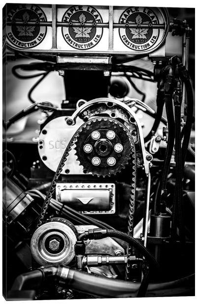 Drag Racing Car Engine Canvas Art Print