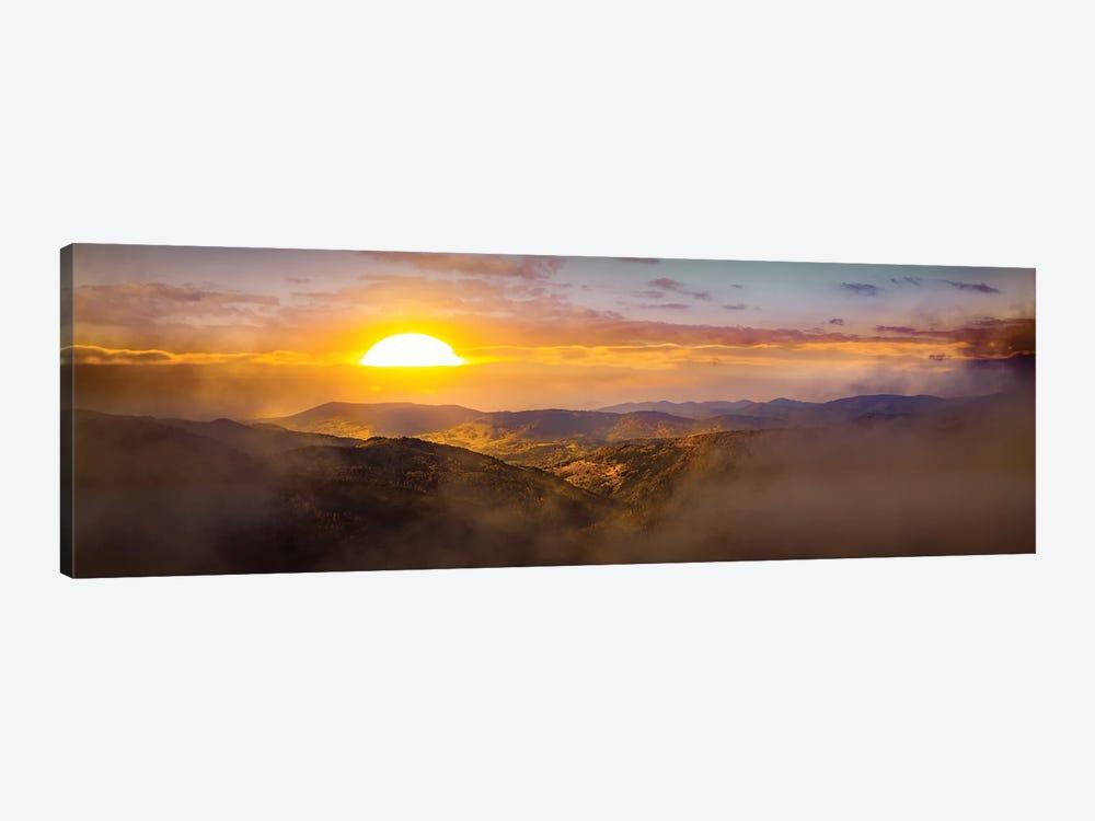 Sunrise Over German Hills by Nik Rave 1-piece Canvas Art Print