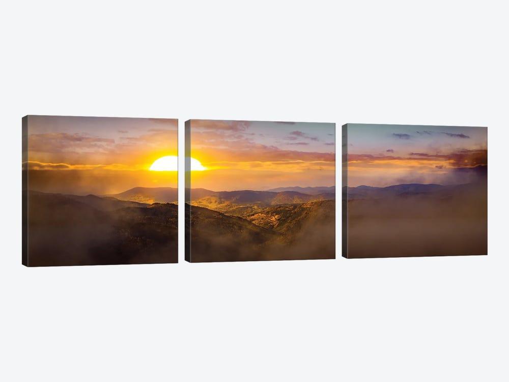 Sunrise Over German Hills by Nik Rave 3-piece Art Print
