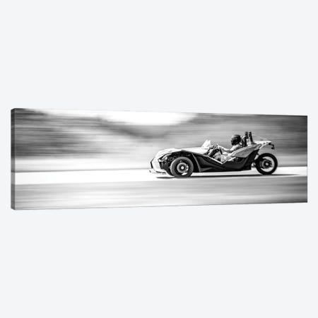 Polaris Slingshot On The Track In Motion Canvas Print #NRV209} by Nik Rave Canvas Wall Art