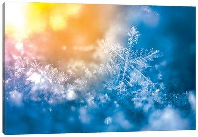 Epic Snowflake On The Sun Canvas Art Print