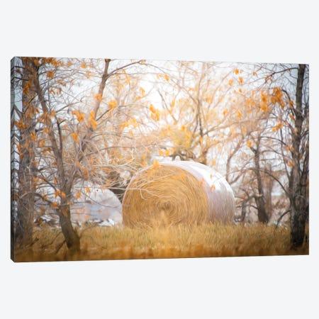 Haystack Painting Canvas Print #NRV310} by Nik Rave Canvas Artwork