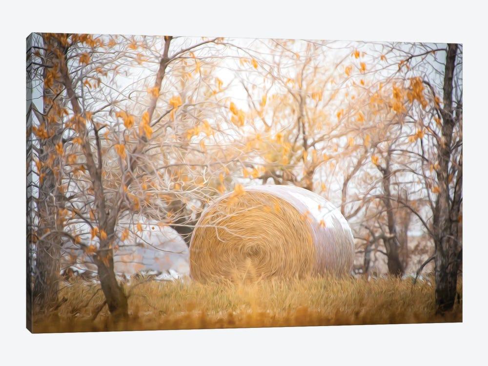 Haystack Painting by Nik Rave 1-piece Art Print