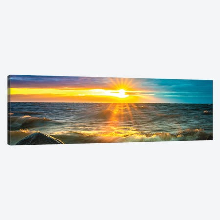 Sunrise Over Ocean II Canvas Print #NRV329} by Nik Rave Canvas Print
