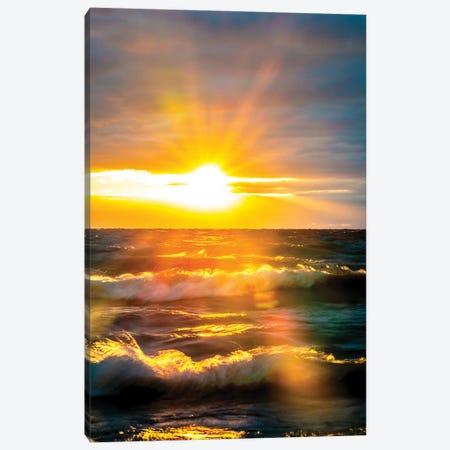 Sunrise Over Ocean III Canvas Print #NRV330} by Nik Rave Canvas Wall Art