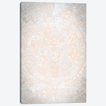 Aztec Wind God White Canvas Print #NRV353} by Nik Rave Canvas Art