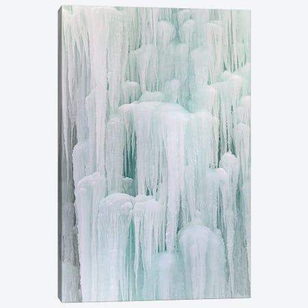 Frozen Waterfall Canvas Print #NRV357} by Nik Rave Canvas Art Print