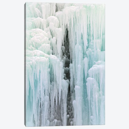 Cave In Frozen Waterfall Canvas Print #NRV379} by Nik Rave Canvas Art