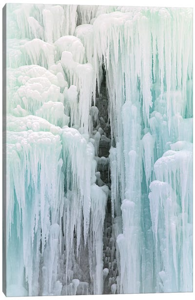 Cave In Frozen Waterfall Canvas Art Print
