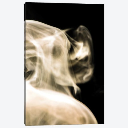 Face In The Smoke Canvas Print #NRV383} by Nik Rave Canvas Art Print