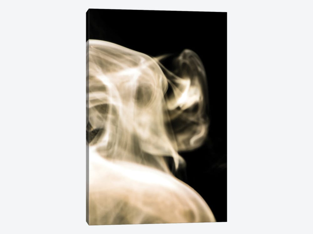 Face In The Smoke by Nik Rave 1-piece Canvas Art Print
