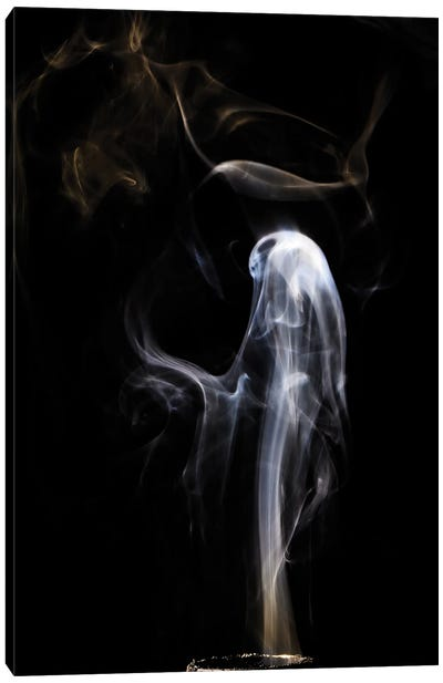Ghost In Smoke Canvas Art Print