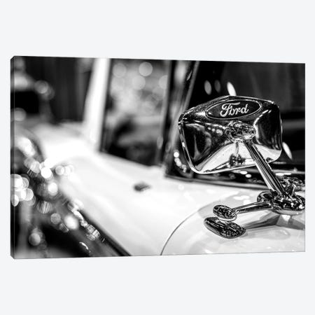 Old School Ford In Black And White Canvas Print #NRV38} by Nik Rave Canvas Art Print