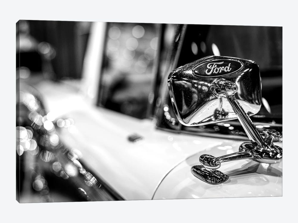 Old School Ford In Black And White by Nik Rave 1-piece Canvas Print