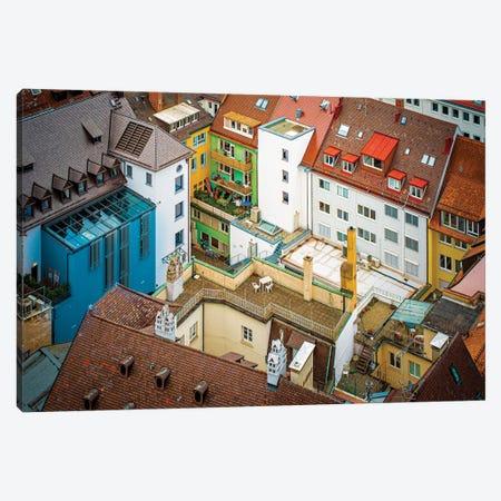 Cityscape Germany. Canvas Print #NRV393} by Nik Rave Canvas Artwork