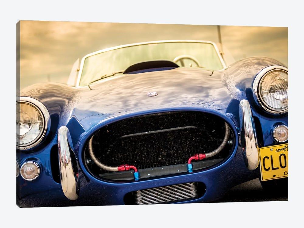 Blue Shelby Cobra Close Up by Nik Rave 1-piece Canvas Art Print