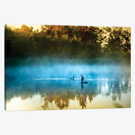The Foggy Songs Canvas Print #NRV79} by Nik Rave Canvas Print