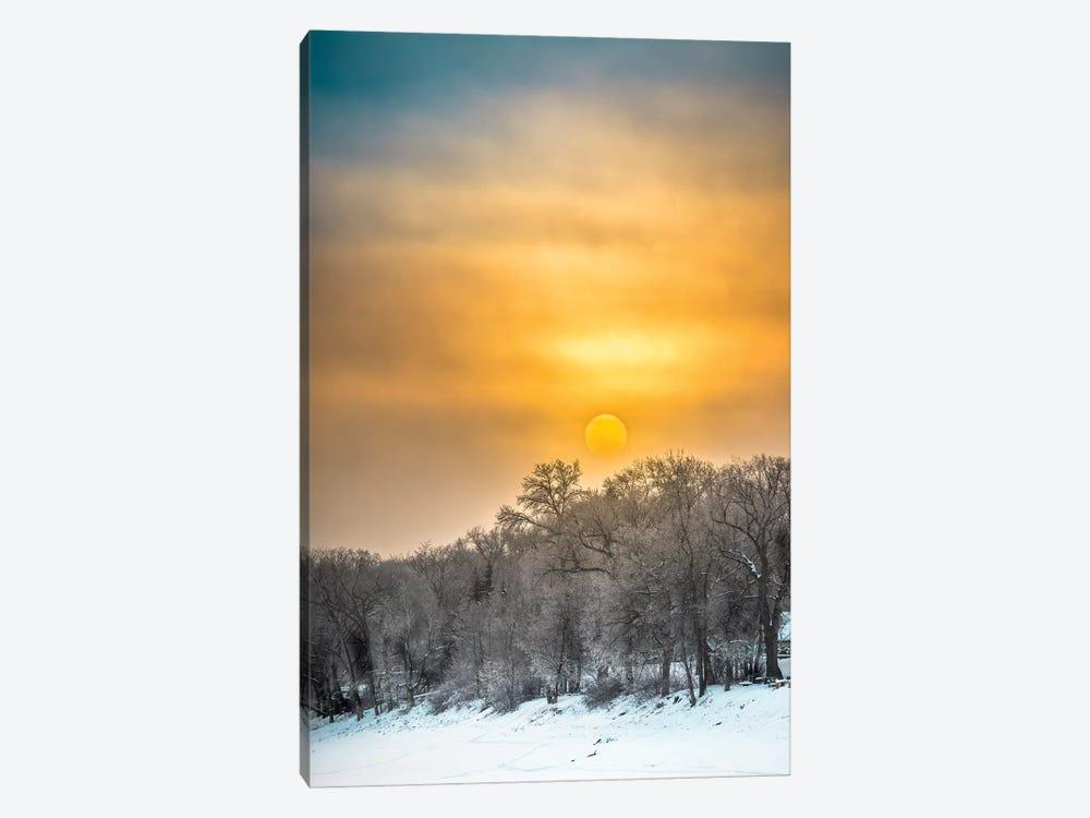 Sunrise Over Frozen River by Nik Rave 1-piece Art Print