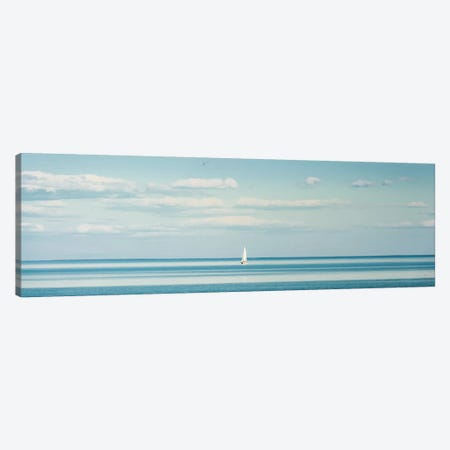 Little Piece Of Heaven: Seascape 3-Piece Canvas #NRV95} by Nik Rave Canvas Artwork