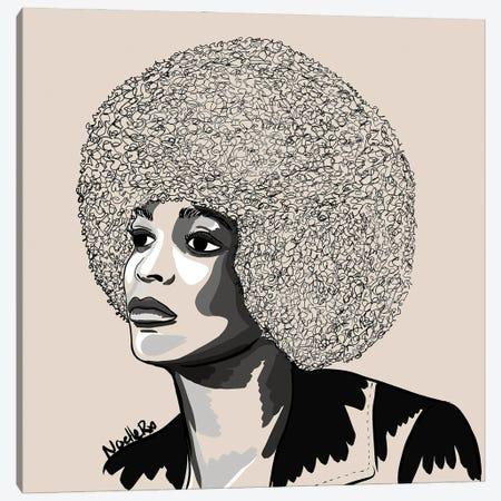 Ms Angela Davis Canvas Print #NRX101} by NoelleRx Canvas Art