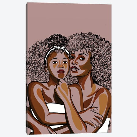 Mommy & Me IV Canvas Print #NRX10} by NoelleRx Art Print
