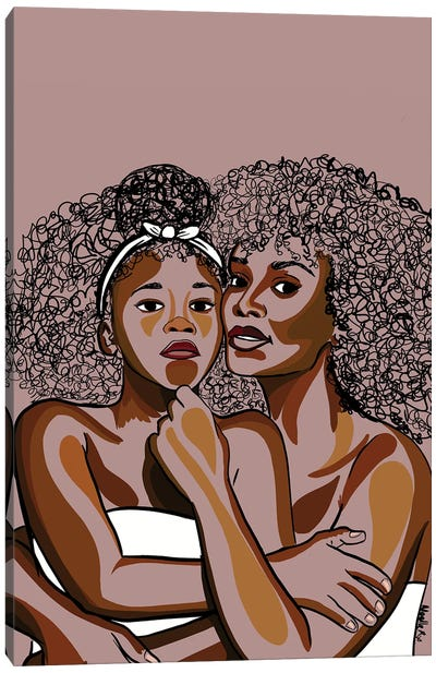 Mommy & Me IV Canvas Art Print