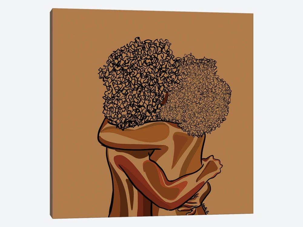 Afro Hug by NoelleRx 1-piece Canvas Art Print