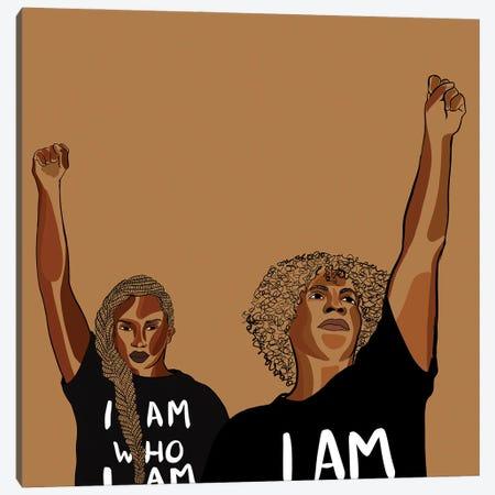 I Am A Black Woman Canvas Print #NRX115} by NoelleRx Canvas Wall Art