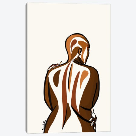 Love Your curves I Canvas Print #NRX12} by NoelleRx Art Print
