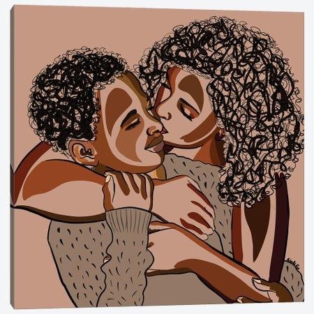 Mommy & Me V Canvas Print #NRX15} by NoelleRx Canvas Art