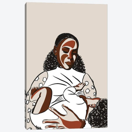Black Mothers Breastfeed II Canvas Print #NRX19} by NoelleRx Canvas Print