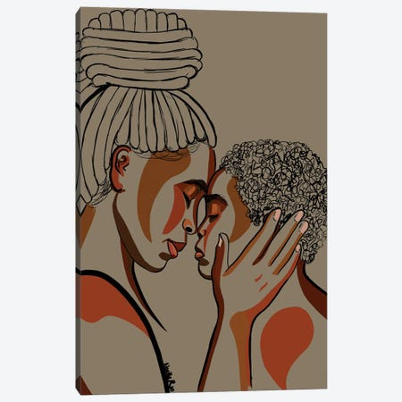 Mommy & Me III Canvas Print #NRX20} by NoelleRx Canvas Art