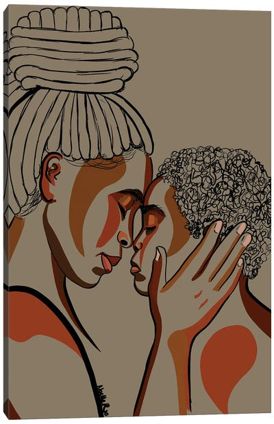 Mommy & Me III Canvas Art Print