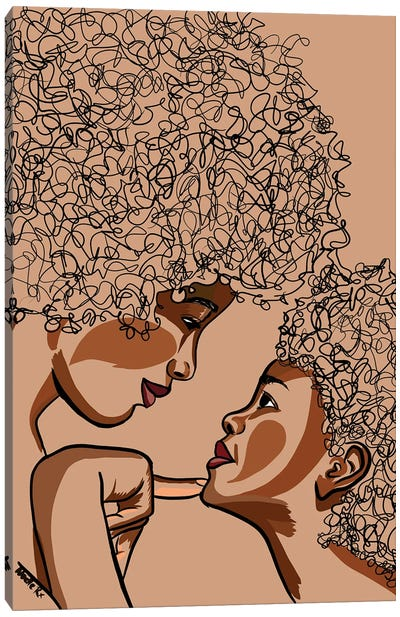 Mommy & Me I Canvas Art Print