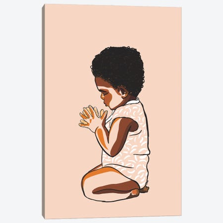 Teach The Babies To Pray Canvas Print #NRX30} by NoelleRx Canvas Print