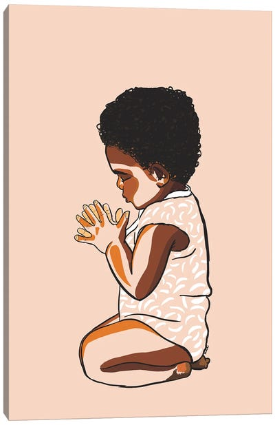 Teach The Babies To Pray Canvas Art Print