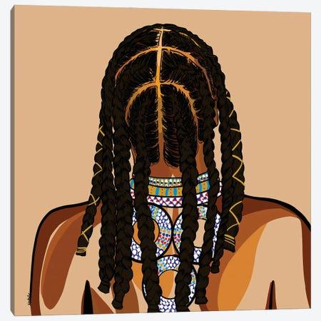 Black Hair Story - Cornrows Canvas Print #NRX31} by NoelleRx Canvas Print