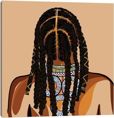 Black Hair Story - Cornrows Canvas Art Print