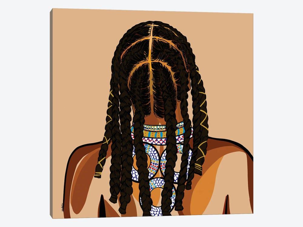 Black Hair Story - Cornrows by NoelleRx 1-piece Art Print