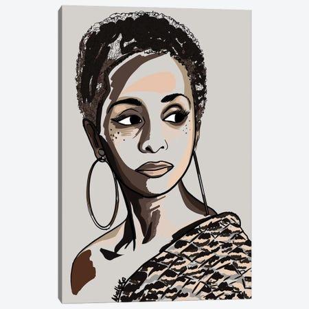 Black Hair Story - Low Fro Canvas Print #NRX36} by NoelleRx Canvas Art