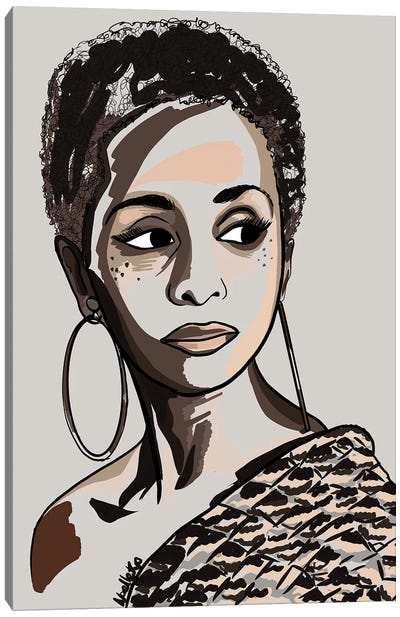 Black Hair Story - Low Fro Canvas Art Print